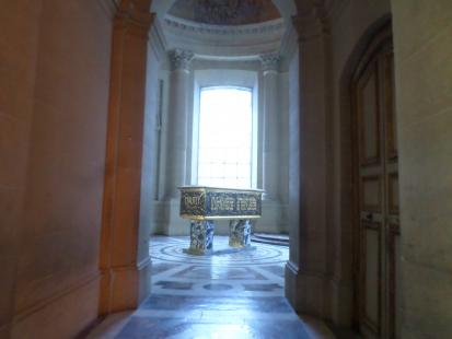 Napoleon's Tomb at the Dome des Invalides in Paris, France. Les