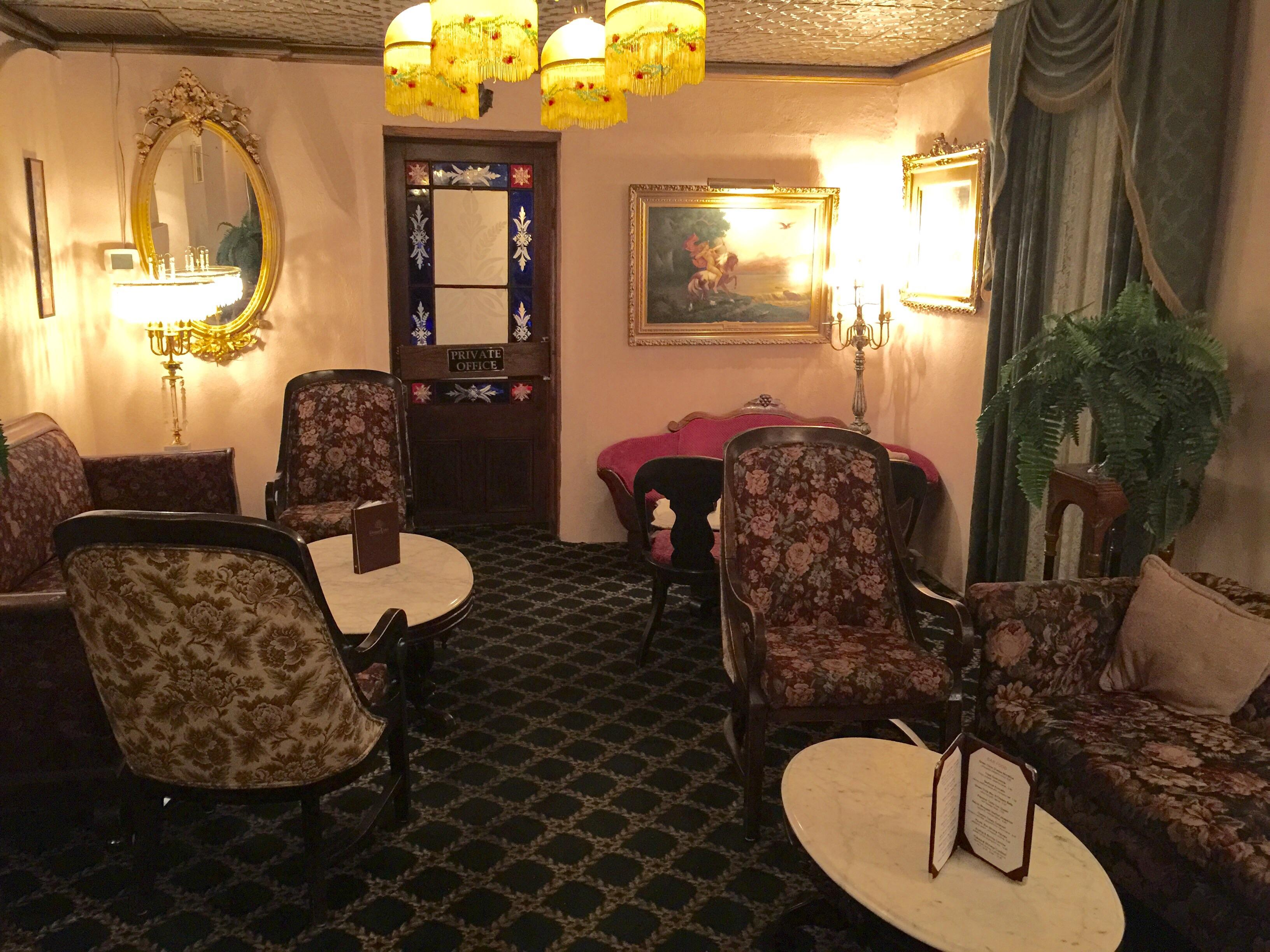 Double Eagle. A classic restaurant with an antique parlor room. Las Cruces.