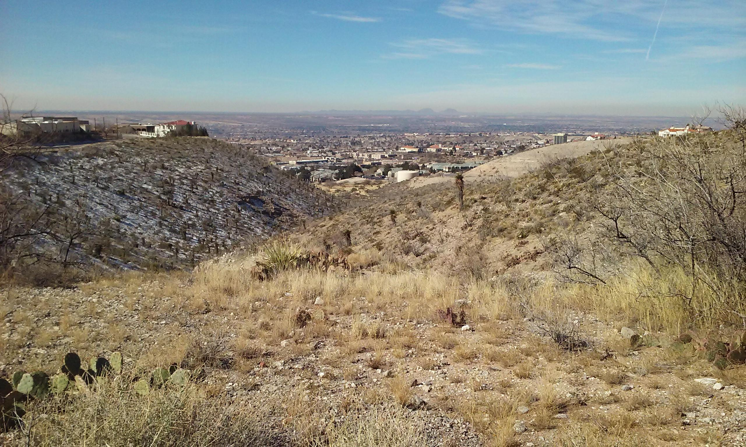 A distant view in El Paso