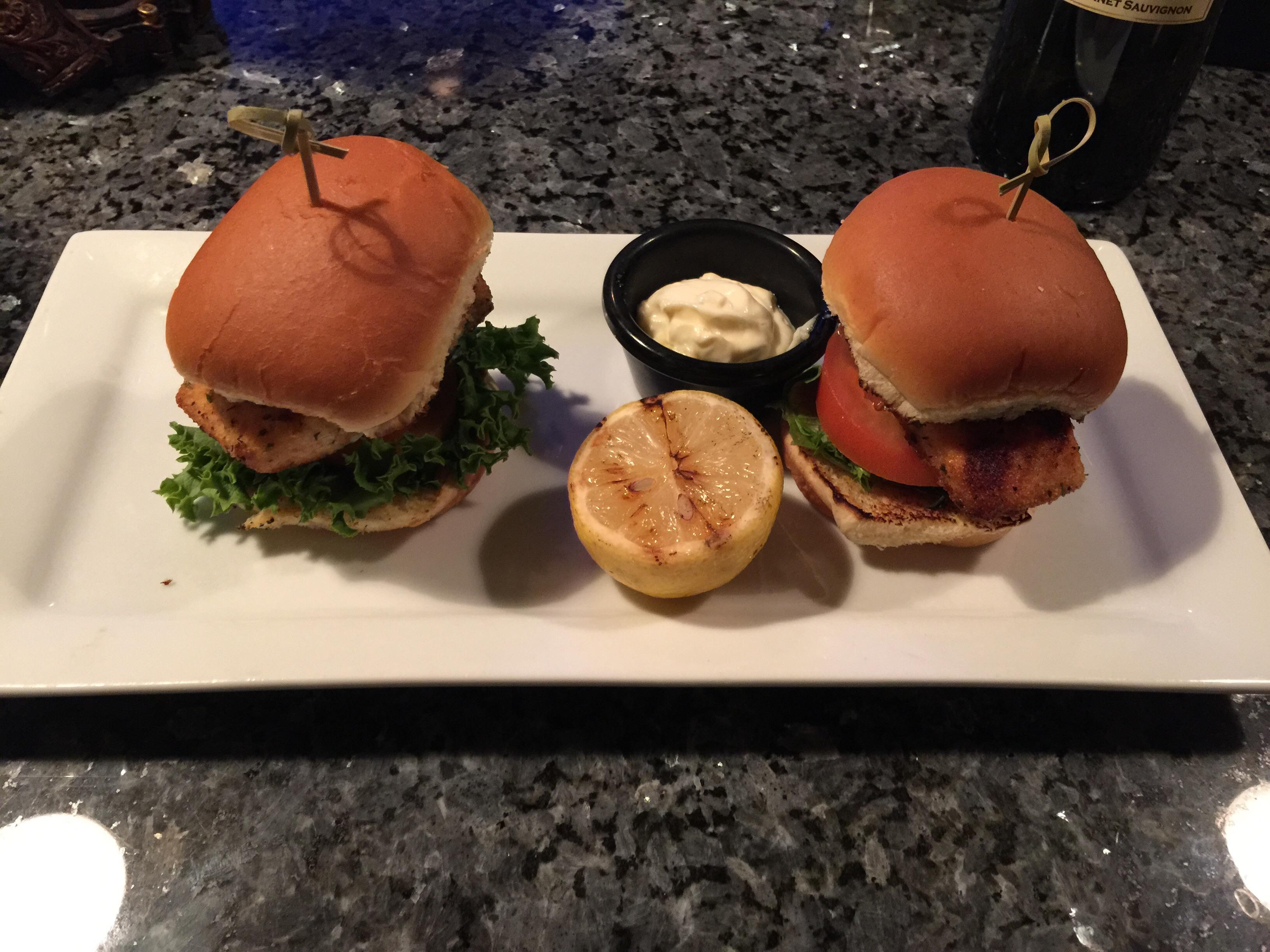 Excellent salmon sliders at St Clair Winery and Bistro $9 #food