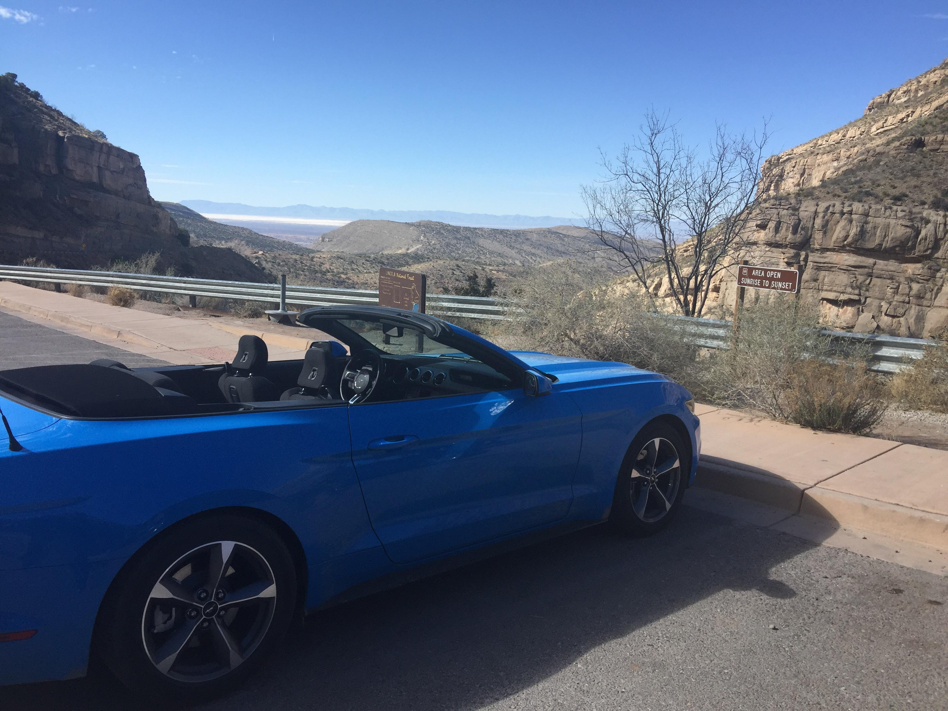 A lot of drives are more fun with the top down 2017 Ford Mustang Convertible Grabber Blue