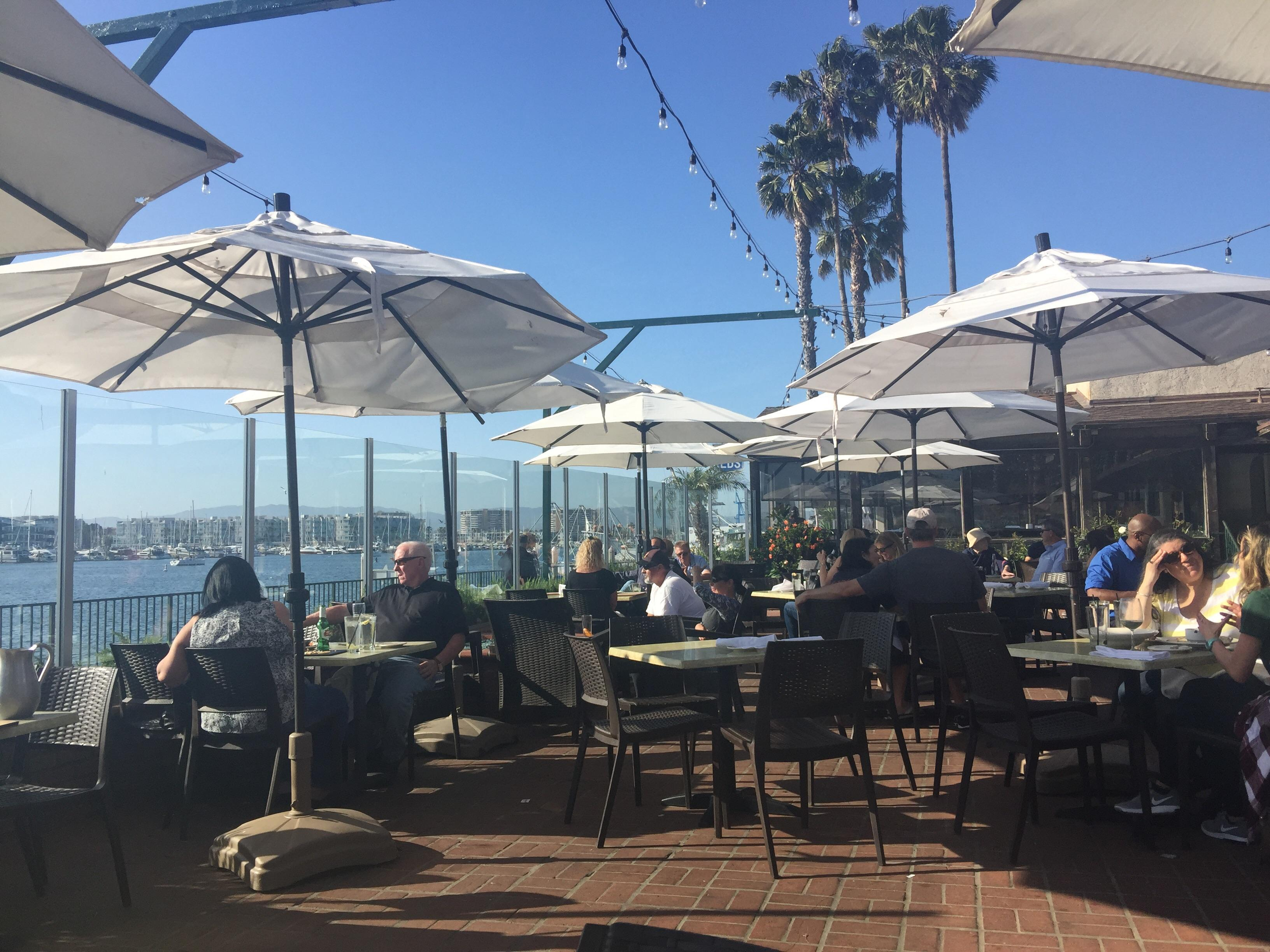 Whiskey Red's patio by the Marina Del Rey
