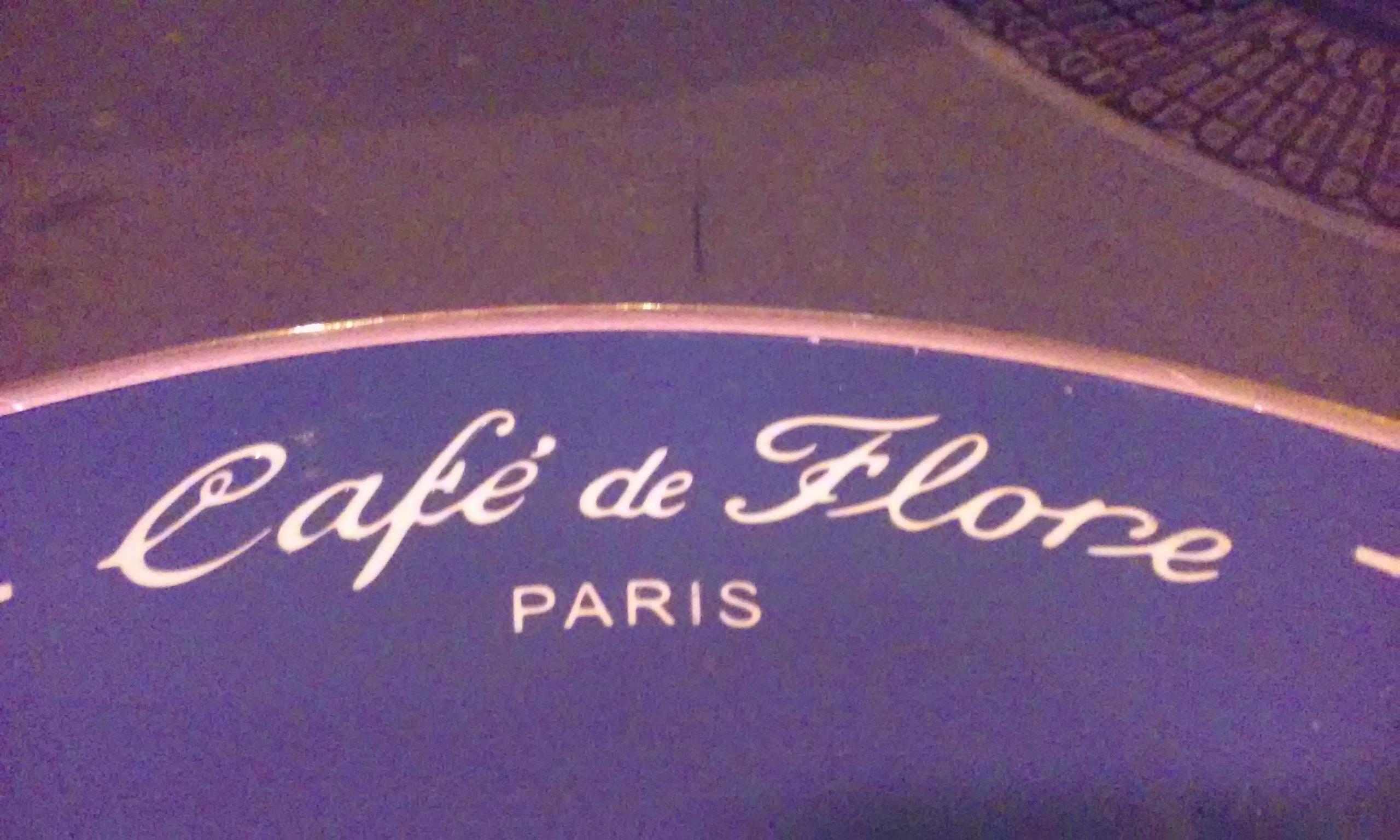 At least I get a view with my $5 coffee in Paris and outdoor seating. At Cafe de Flore. No