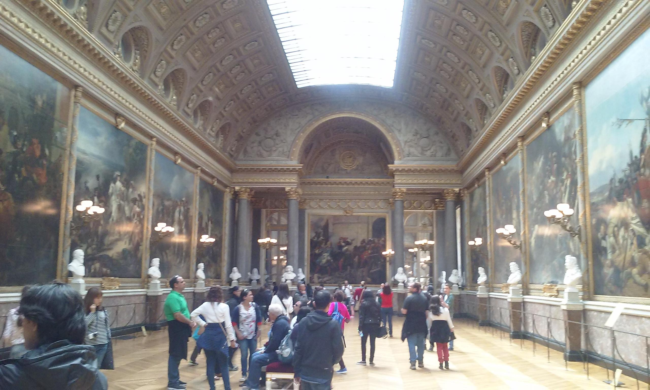A hall with the military victories of France inside Versailles