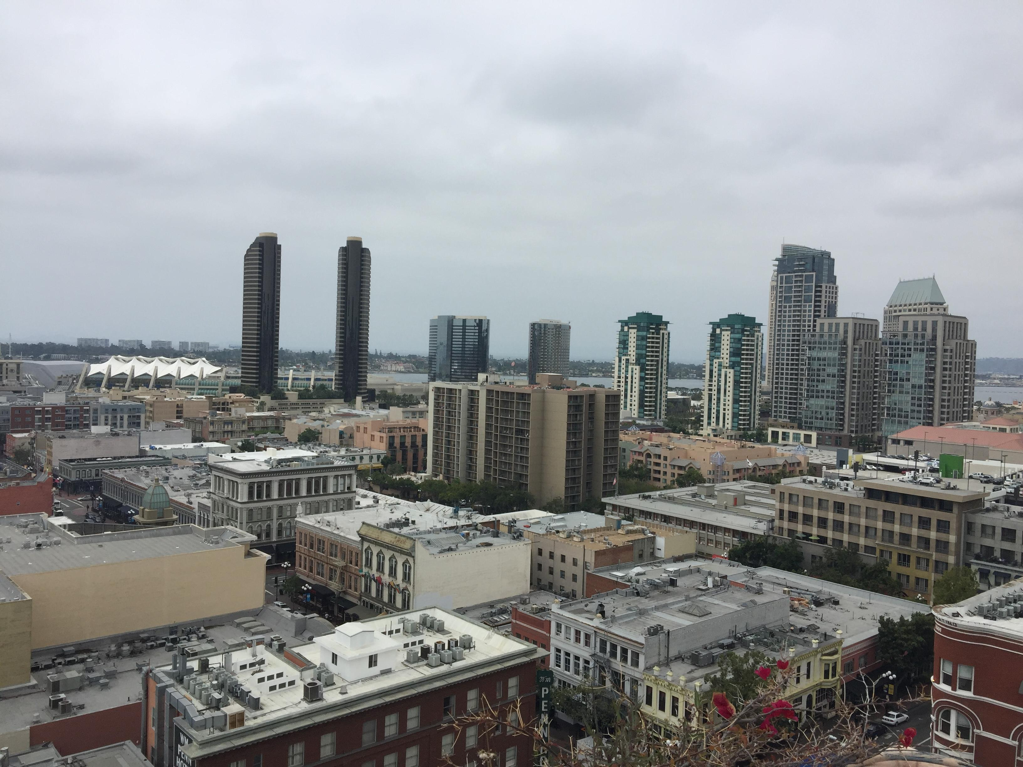 San Diego Convention Center and Gas Lamp District