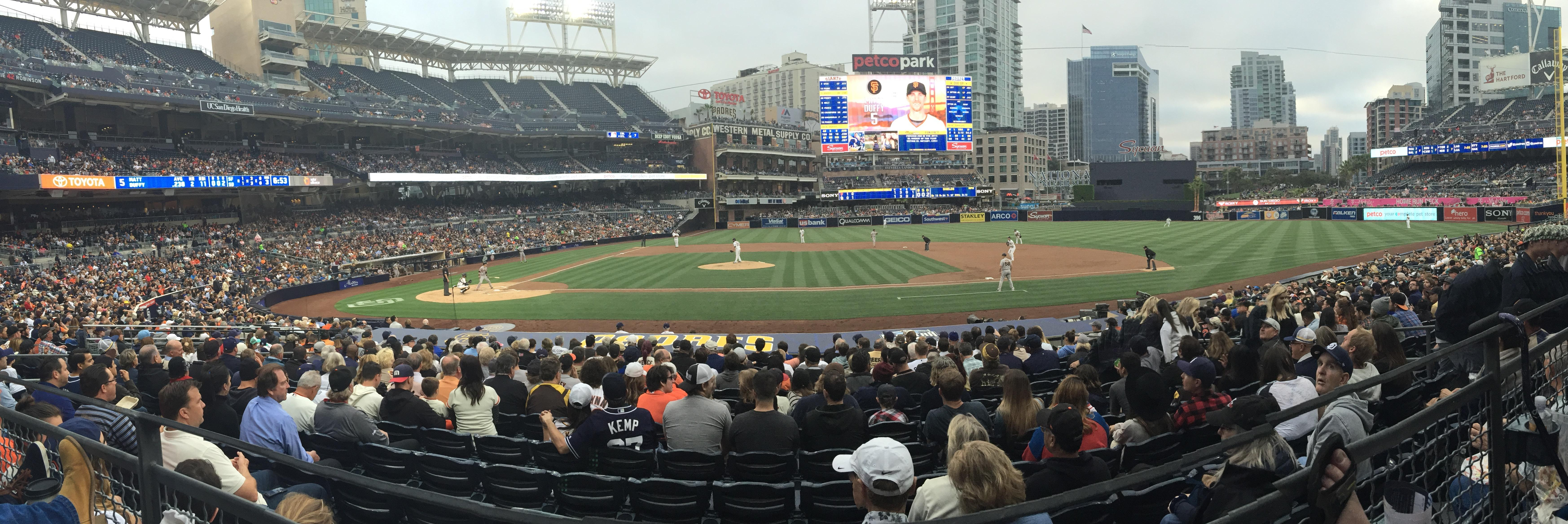 San Francisco Giants at San Diego Padres at Petco Park  Section 107 panorama