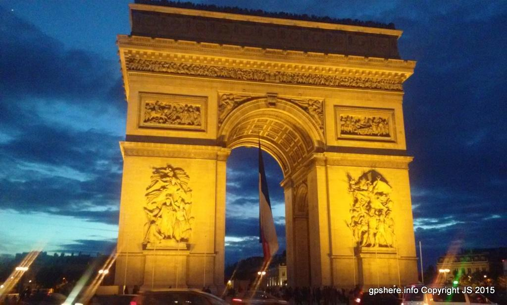 The Arc de Triomphe honors those who fought for France in the  for France in the French Re
