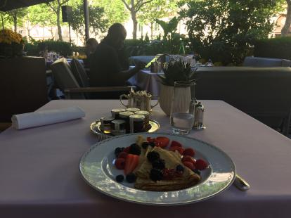 Crepes at the Peninsula Paris #food 16 euros