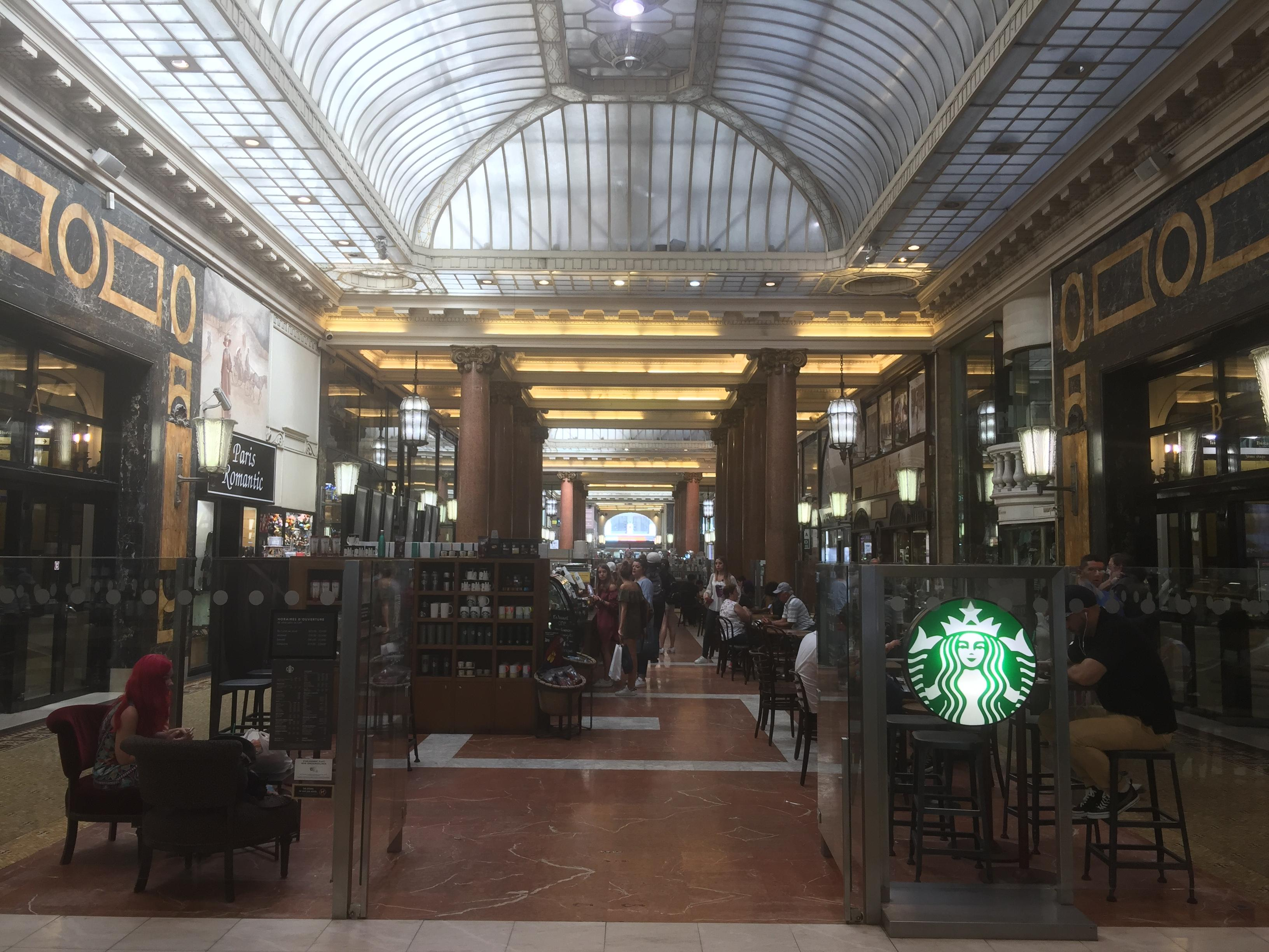 Arcades des Champs Elysees with a Starbucks