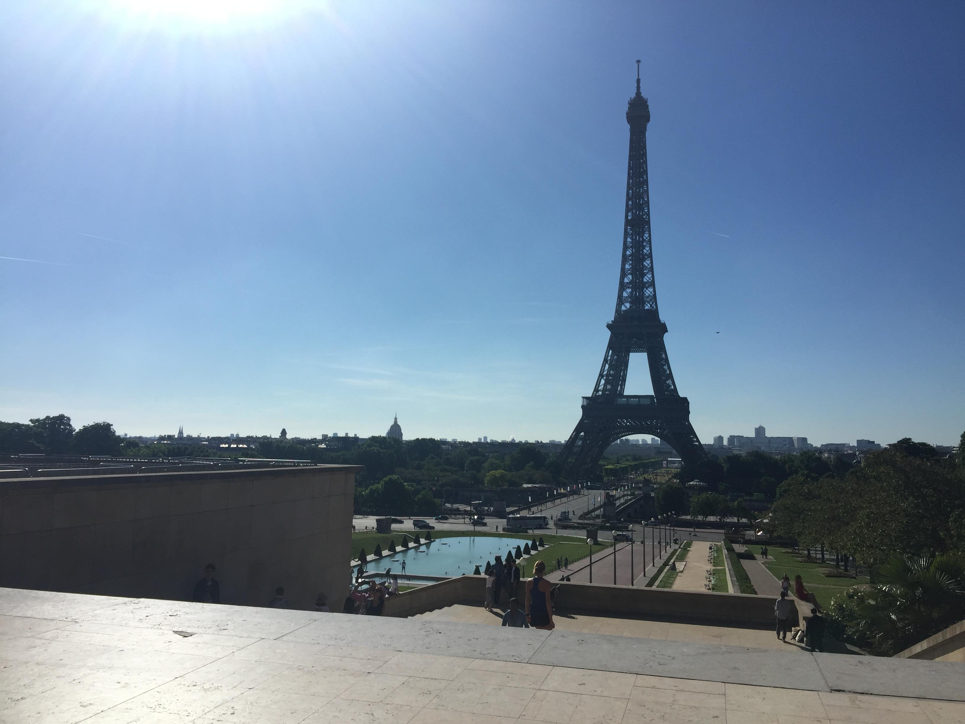 The Eiffel Tower from the Pallais de Chaillot