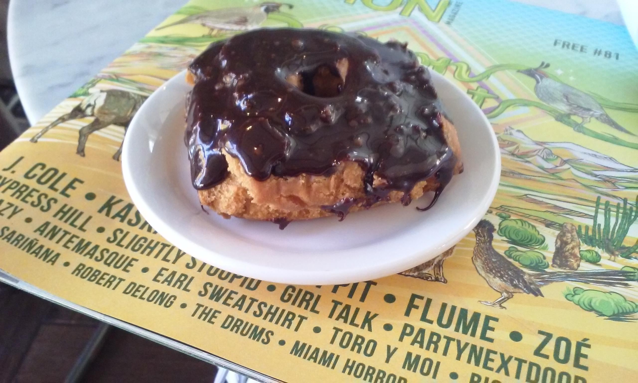 Fudge donut at Hillside Coffee