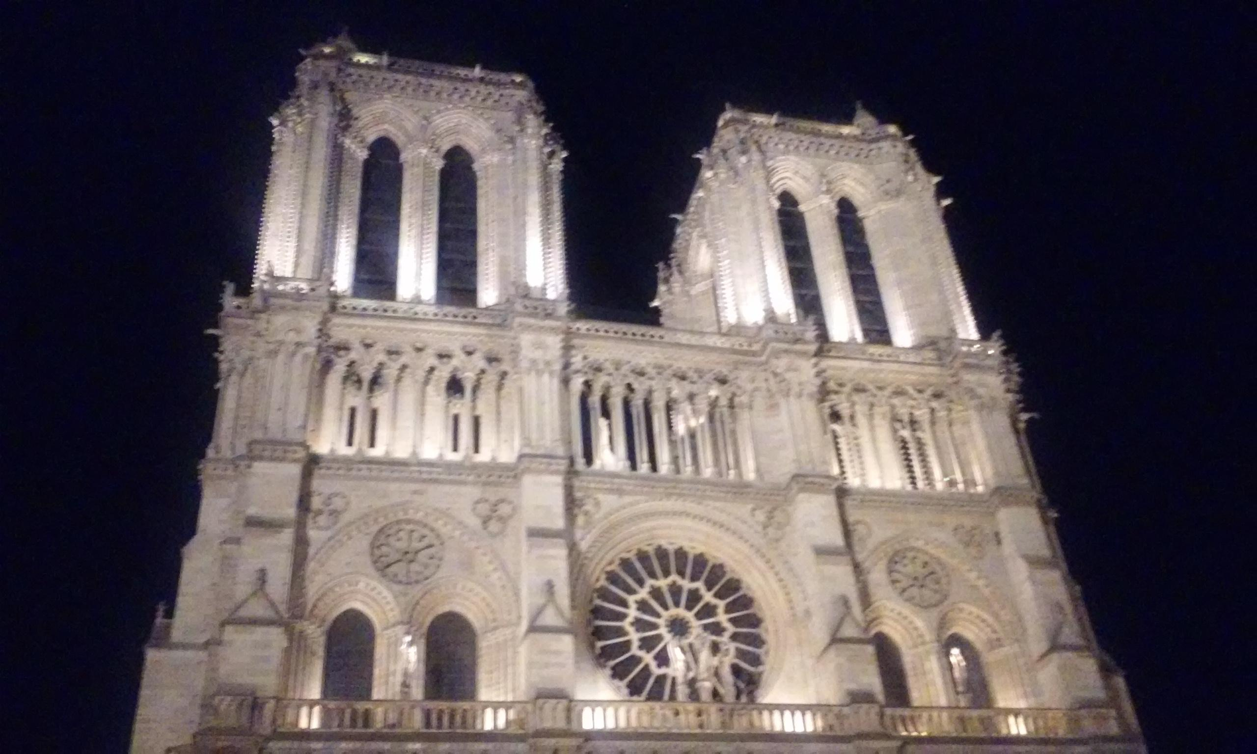 Notre Dame Paris at night