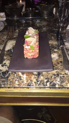 Beef tartare at Four Seasons George V #food