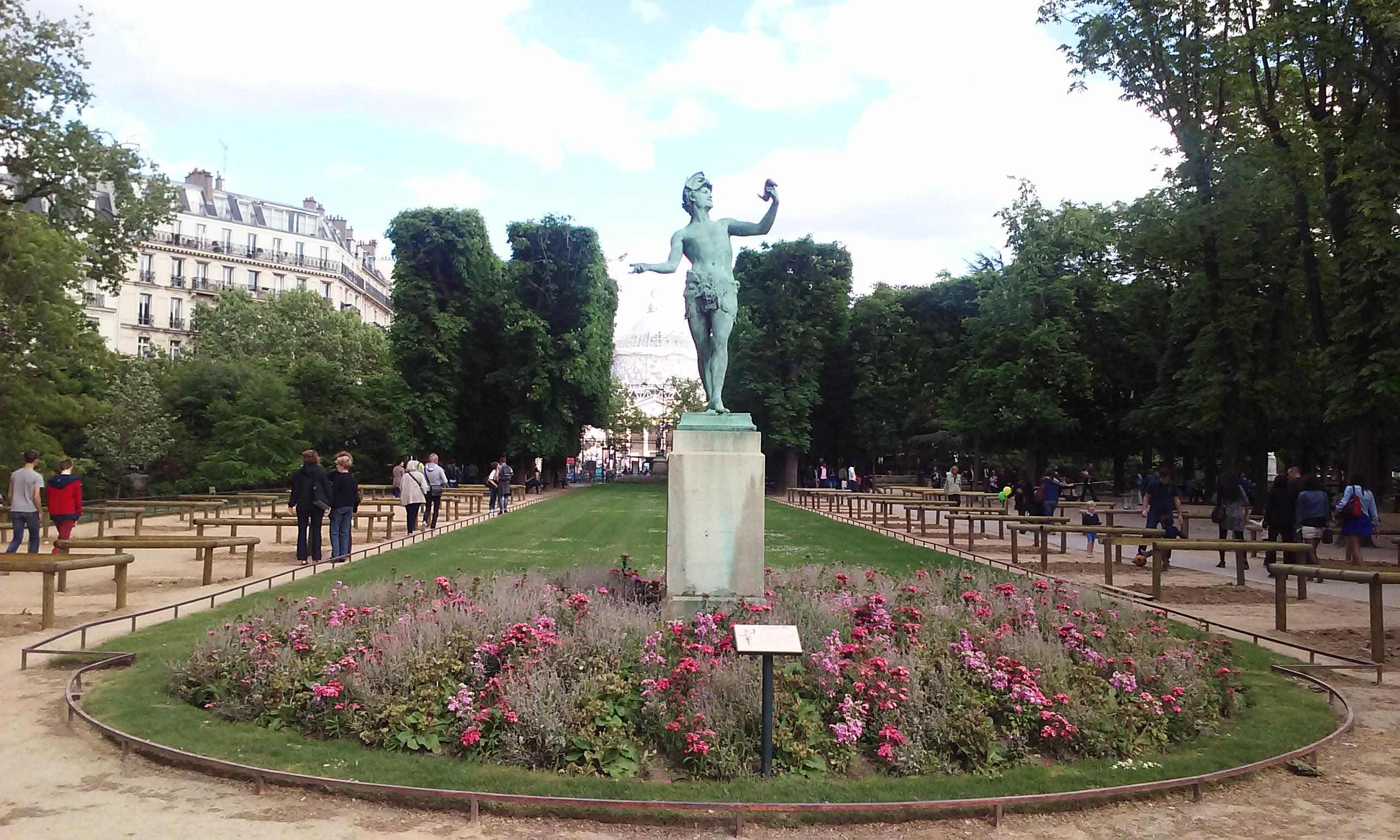 Luxembourg Gardens facing the Pantheon Paris France