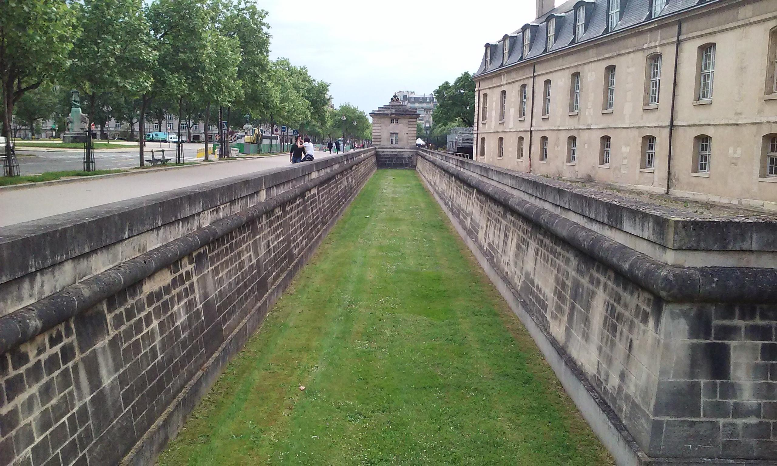 A moat around the Tomb of Napoleon. Paris, France.