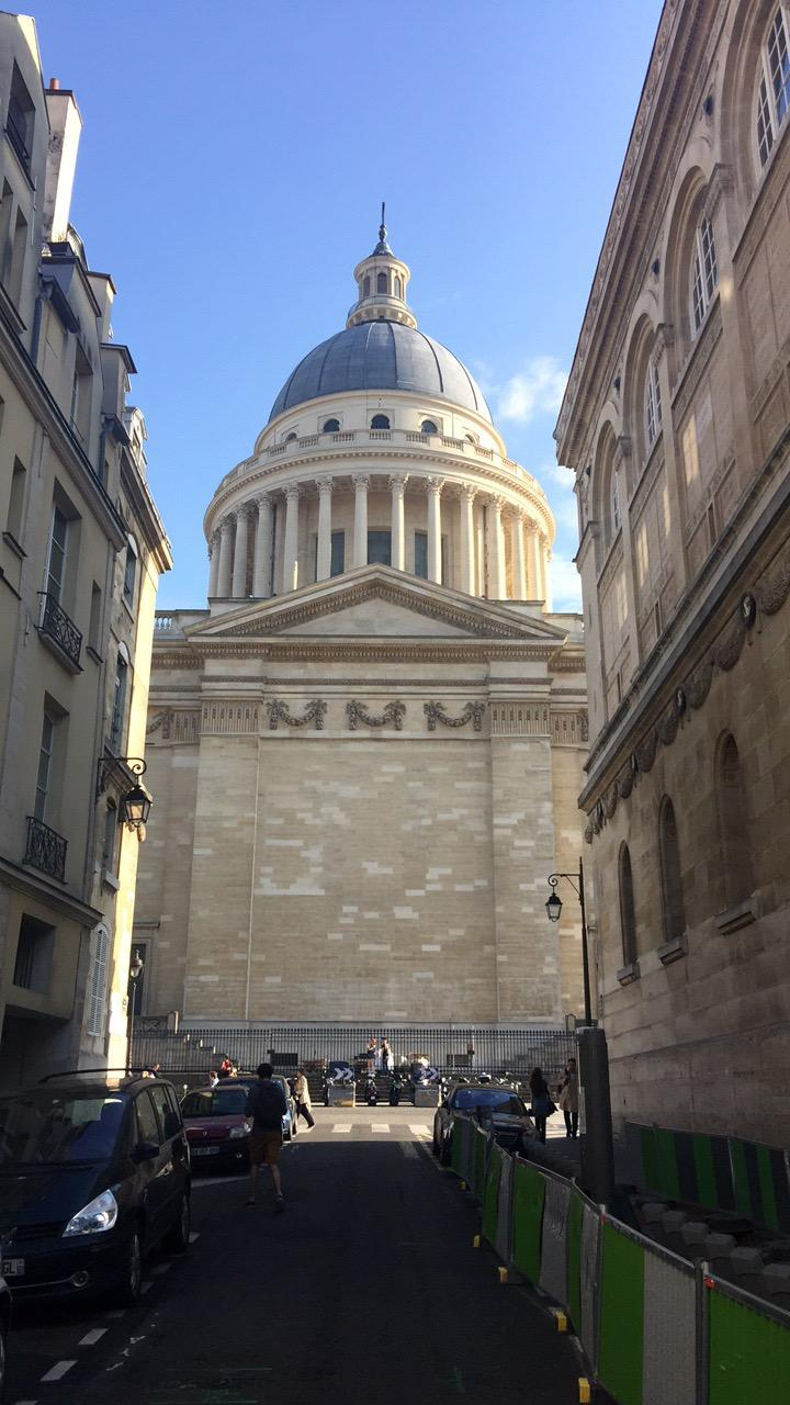 Walking up to the Pantheon close
