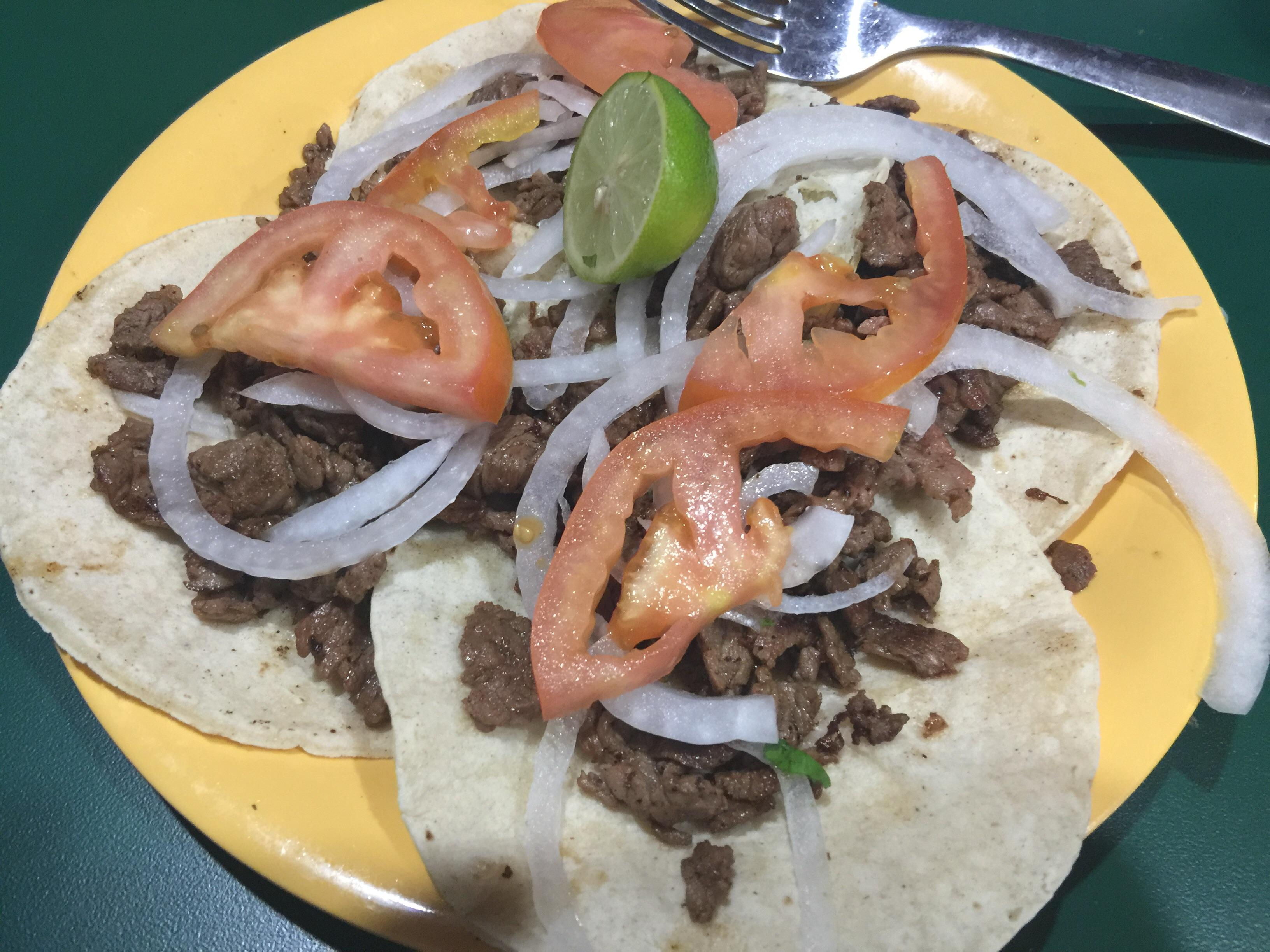 Tacos at El Cometa excellent beef $7.50 #food
