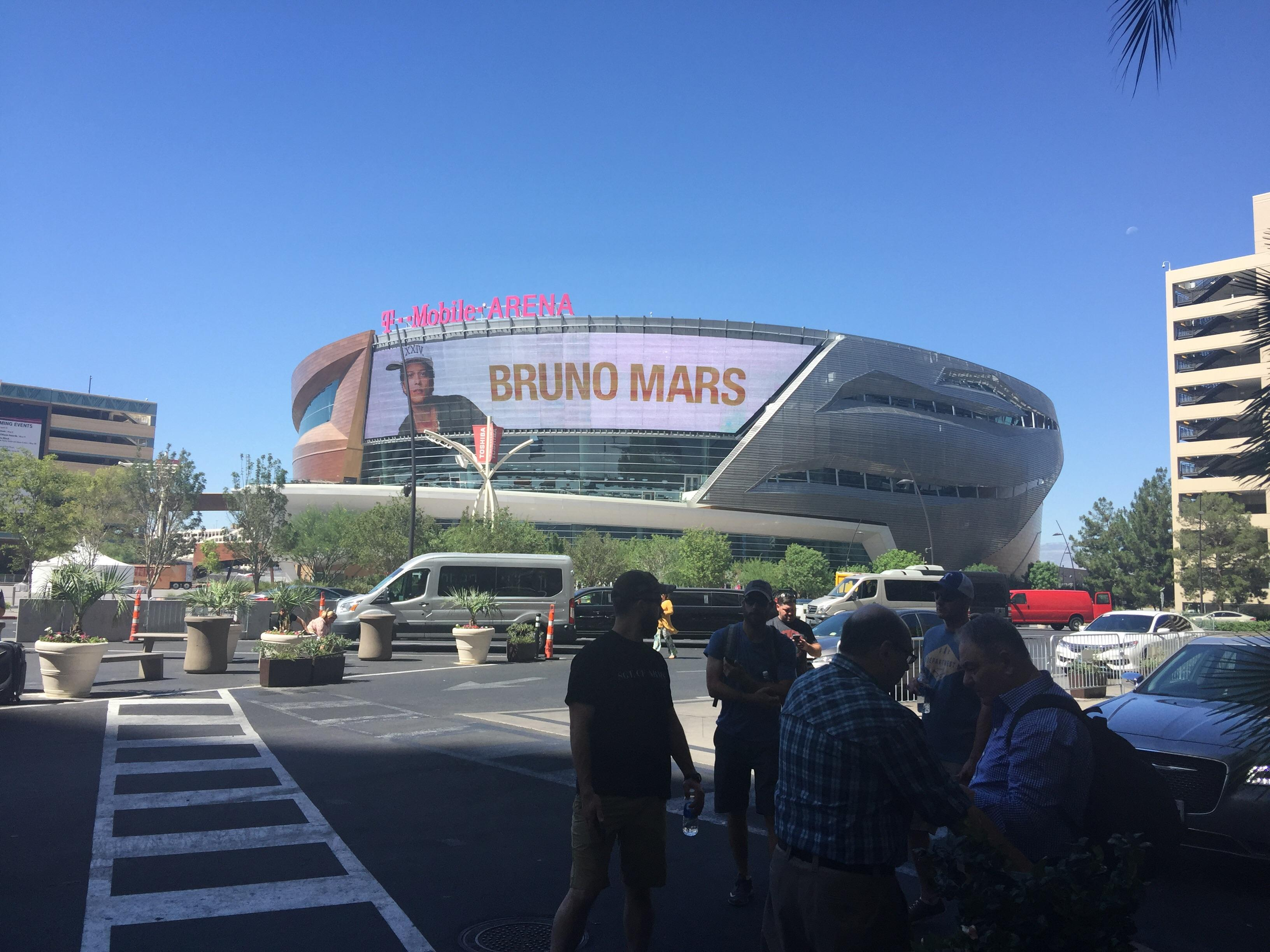 T Mobile Arena from the Monte Carlo Las Vegas