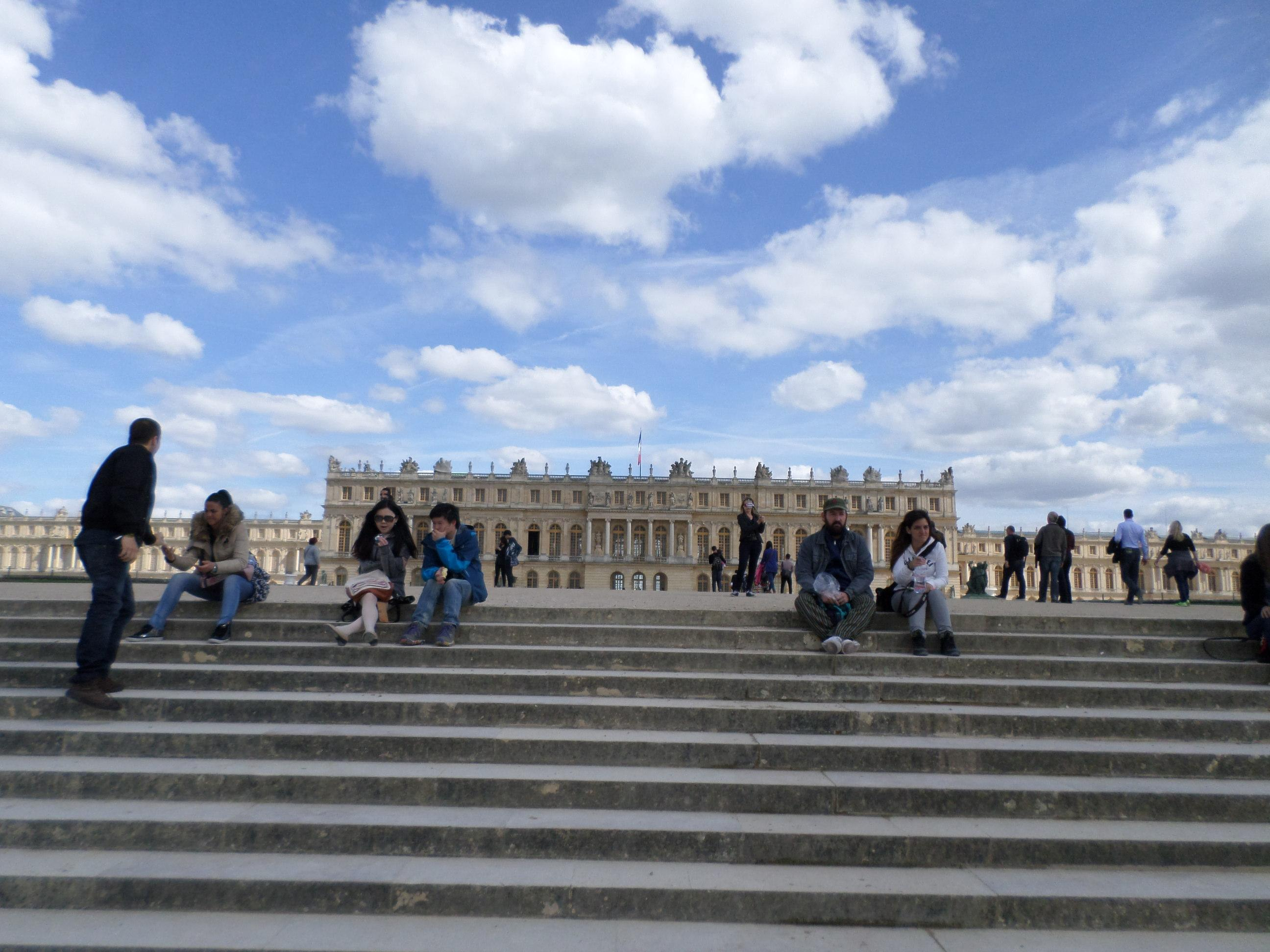 Palace of Versailles. From the steps to the gardens.