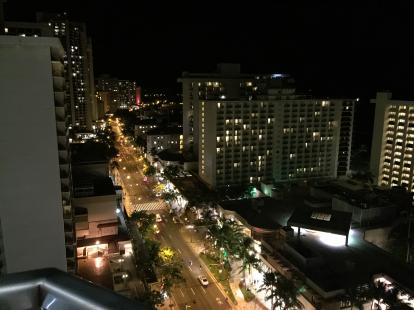 OpenNote: Sky Waikiki rooftop bar on the 18 th floor. Great views of Honolulu