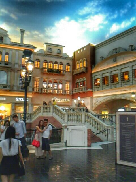 Shops at the Venetian in Las Vegas. A beautiful indoor plaza with indoor canals.