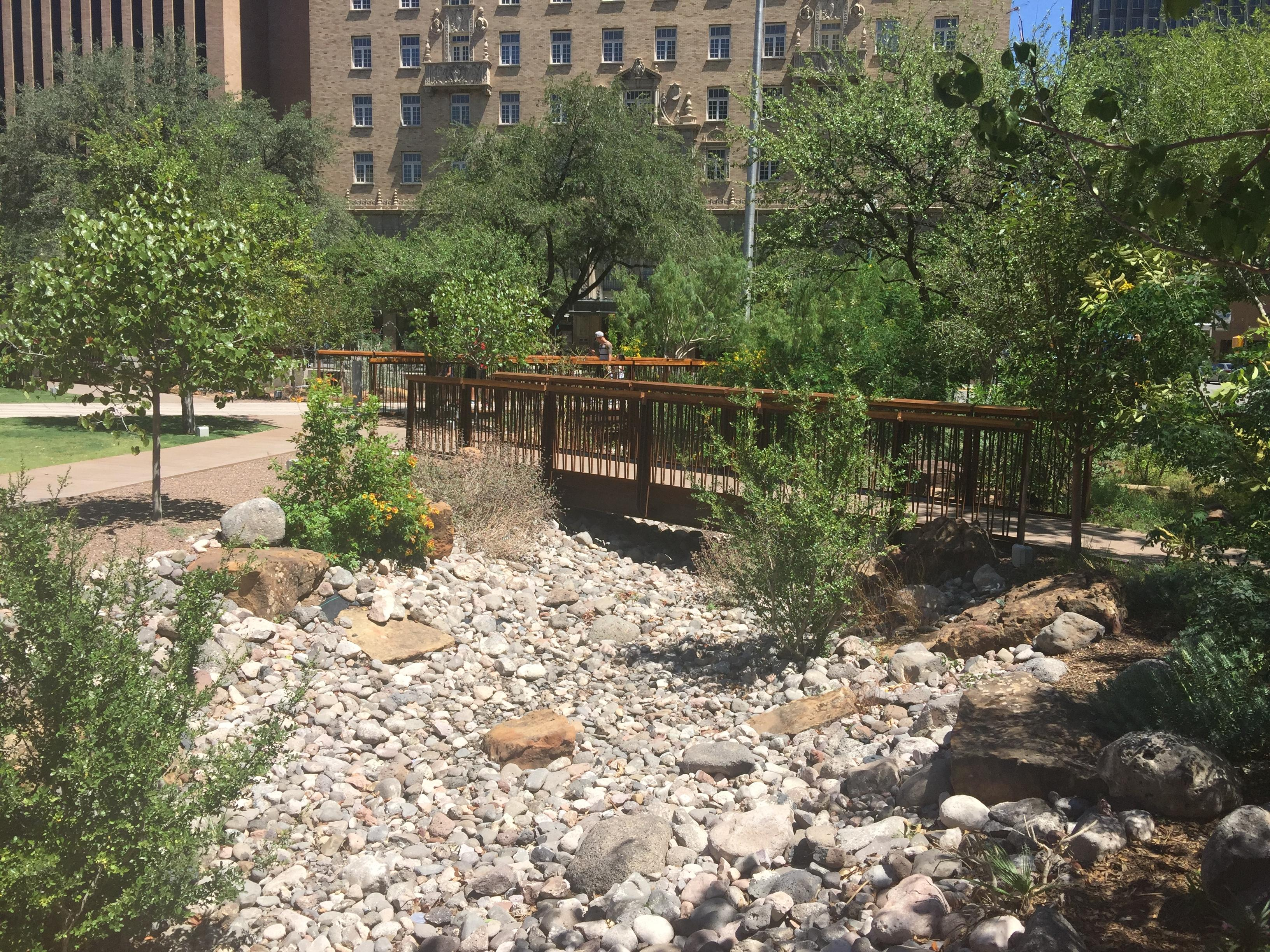 OpenNote: OpenNote: San Jacinto Plaza El Paso Rock river bed with bridges