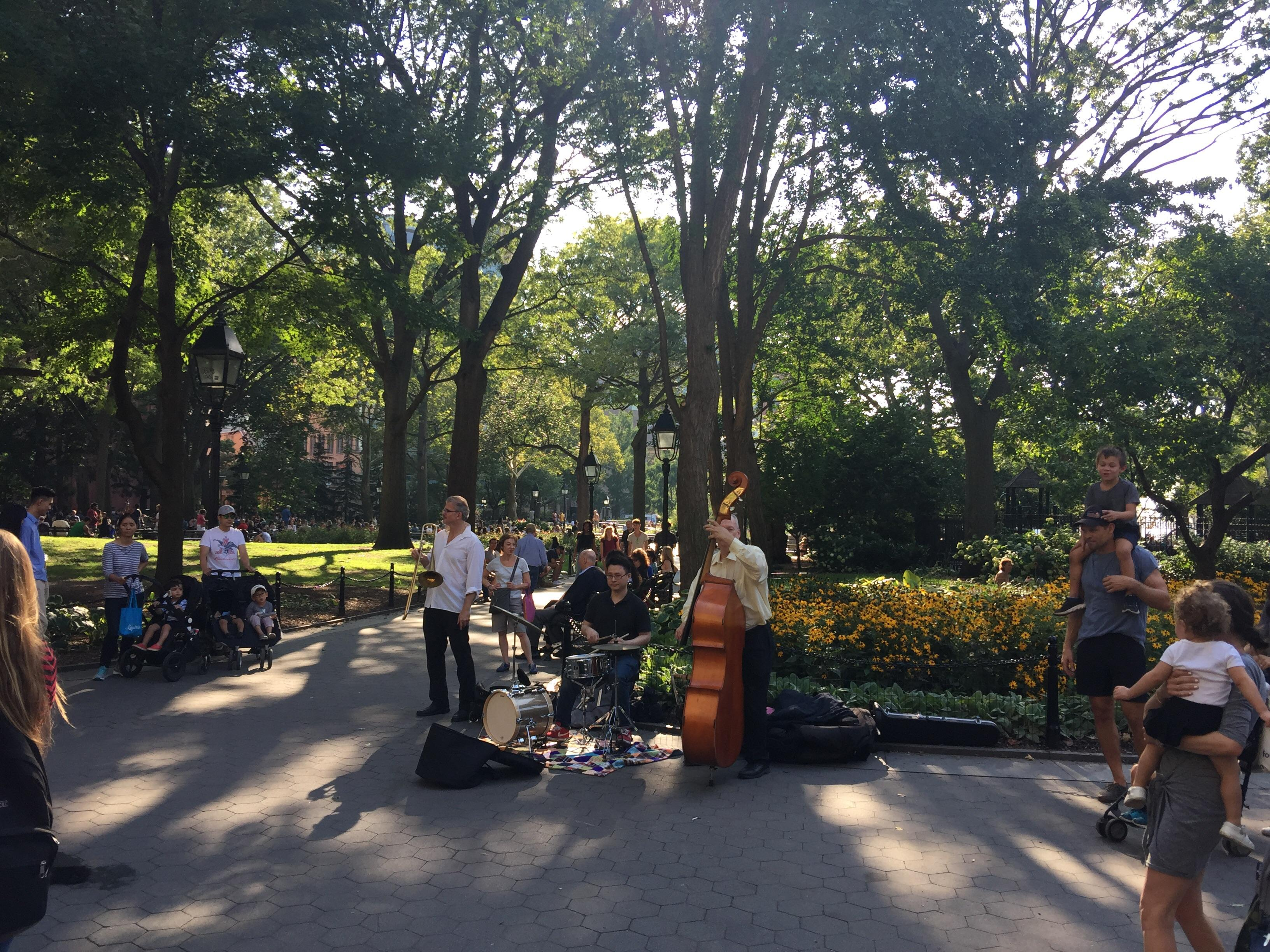 Music at Washington Square Park New York City