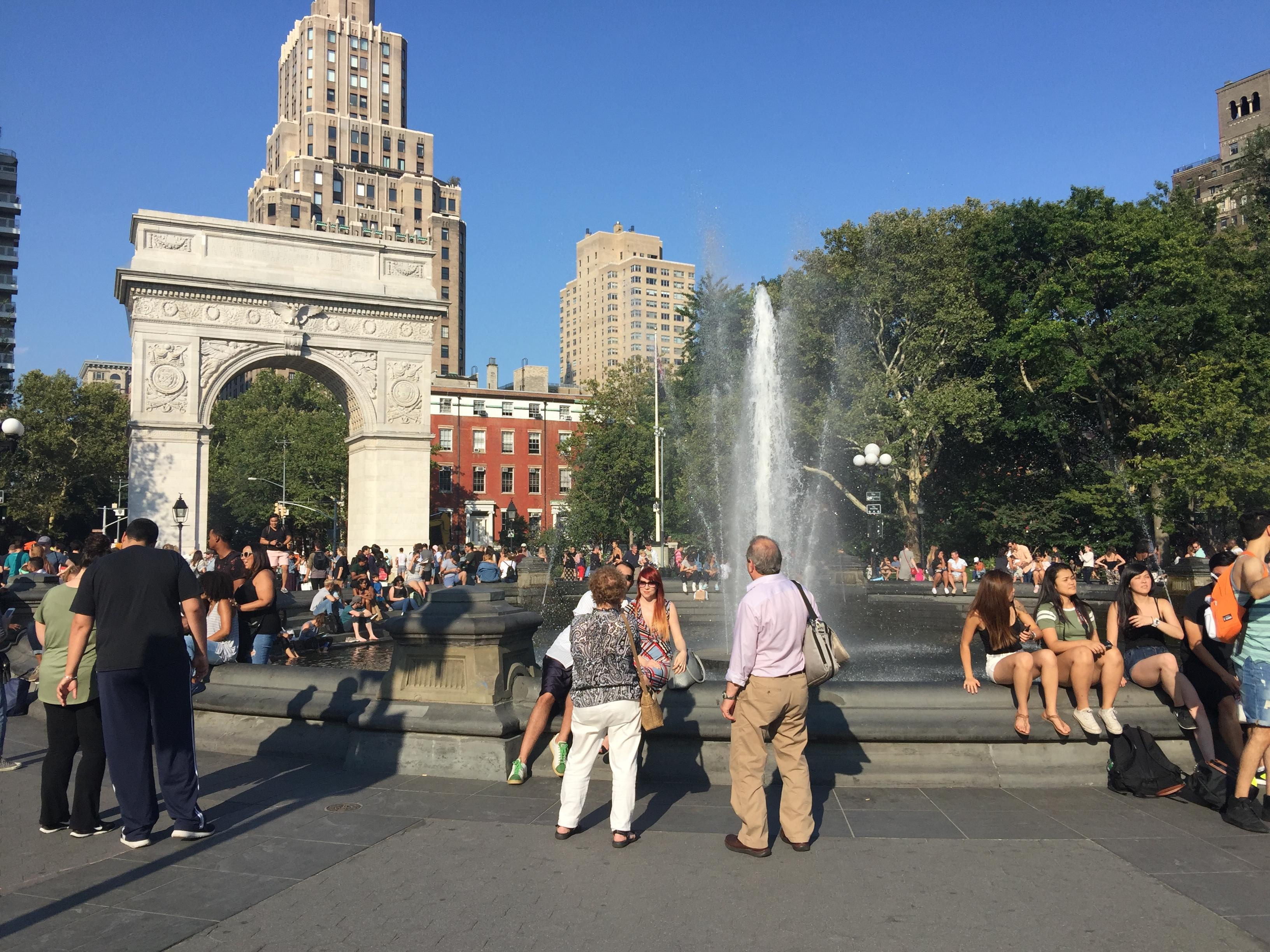 Washington Square Park Arch and Fountain