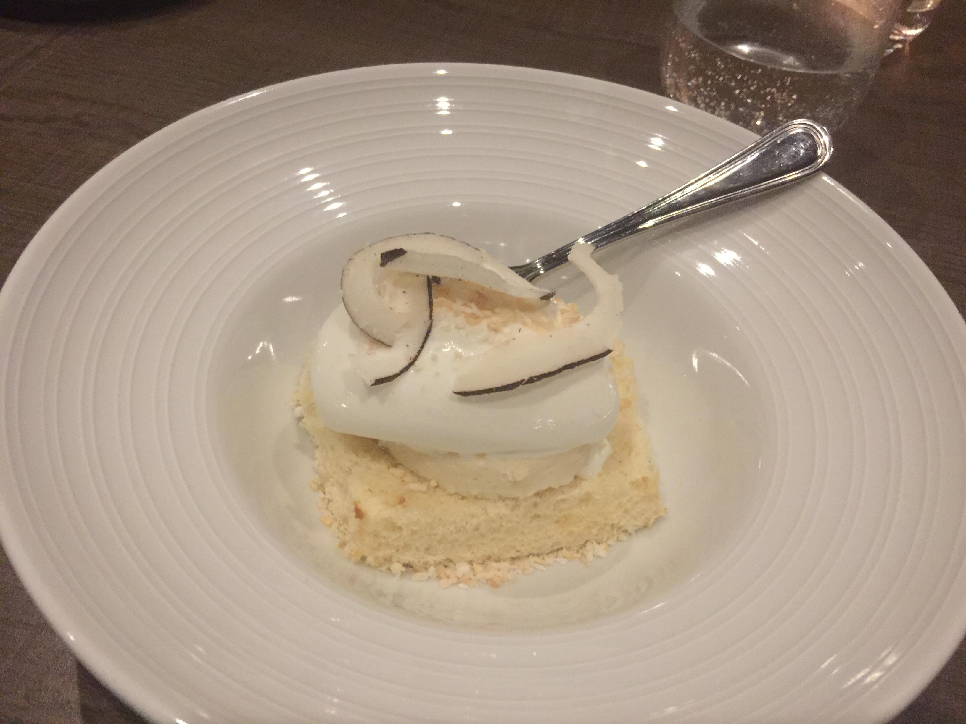 Gusto Restaurant Manjar Blanco coconut cake with ice cream #food excellent