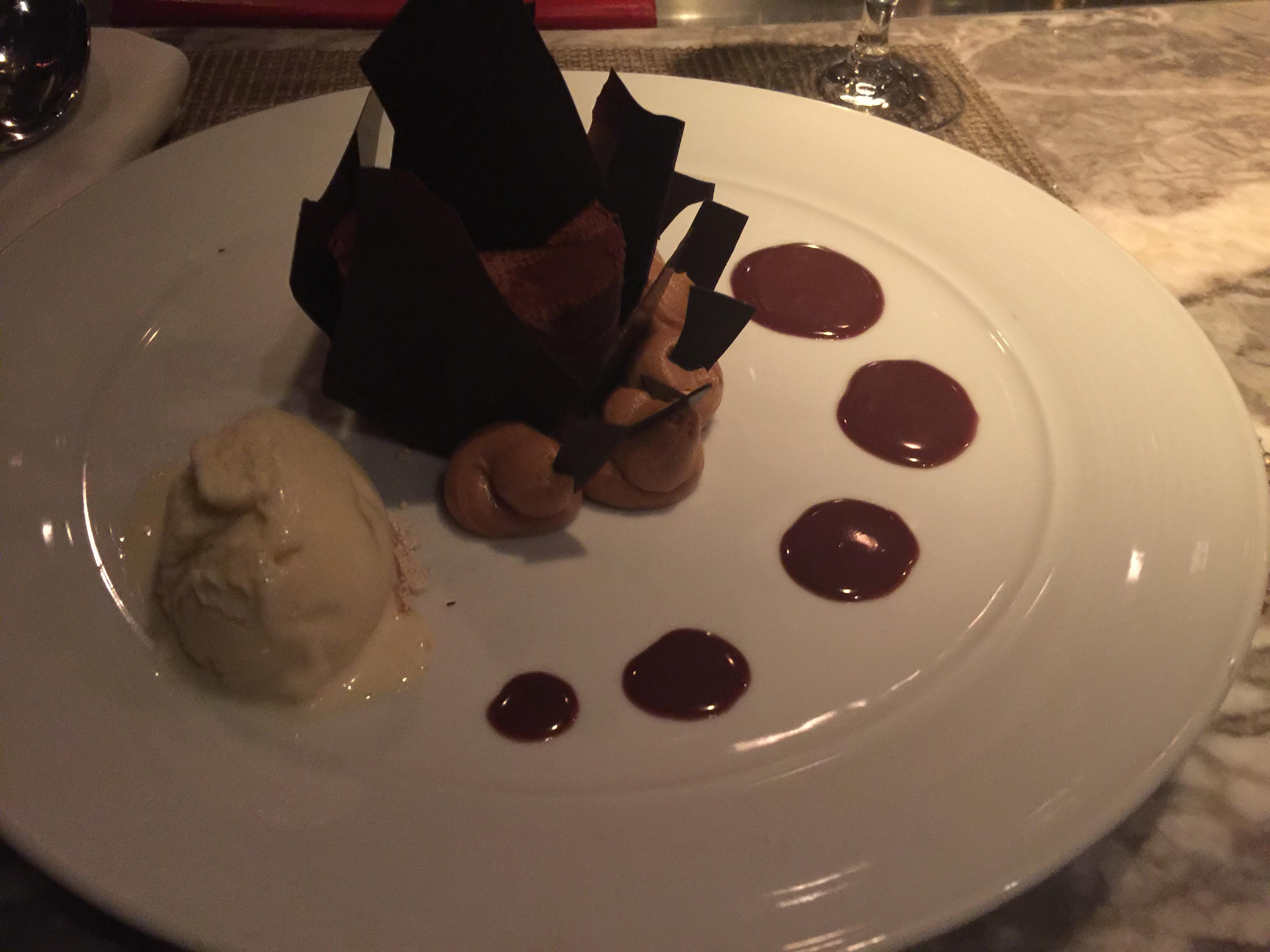 OpenNote: Chocolate cake at the restaurant at the top of the Eiffel Tower in Las Vegas $14