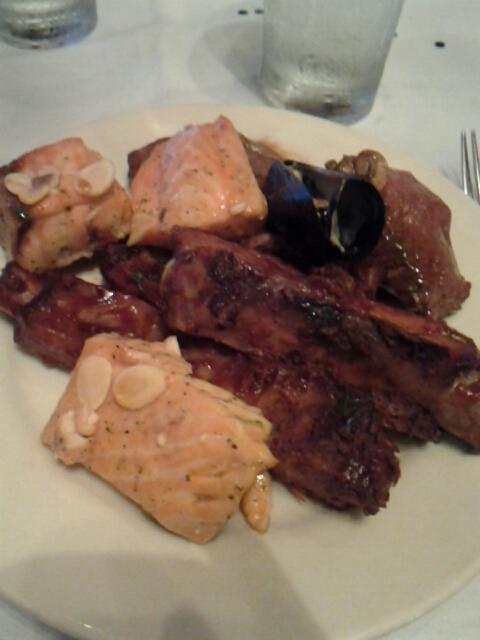 Gi Gi s buffet #food ribs salmon beef