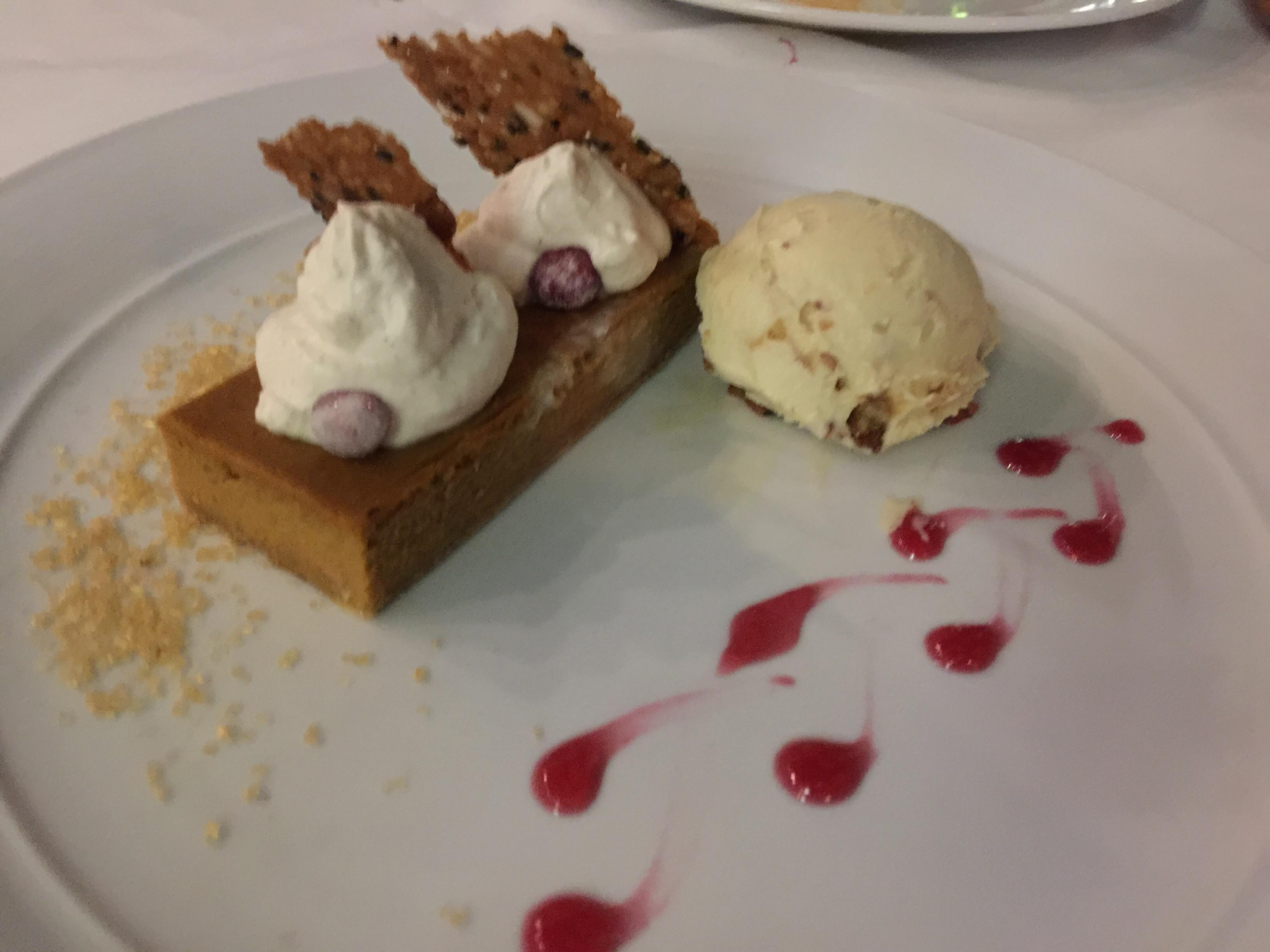 Pumpkin pie at Mandalay Bay Las Vegas #food