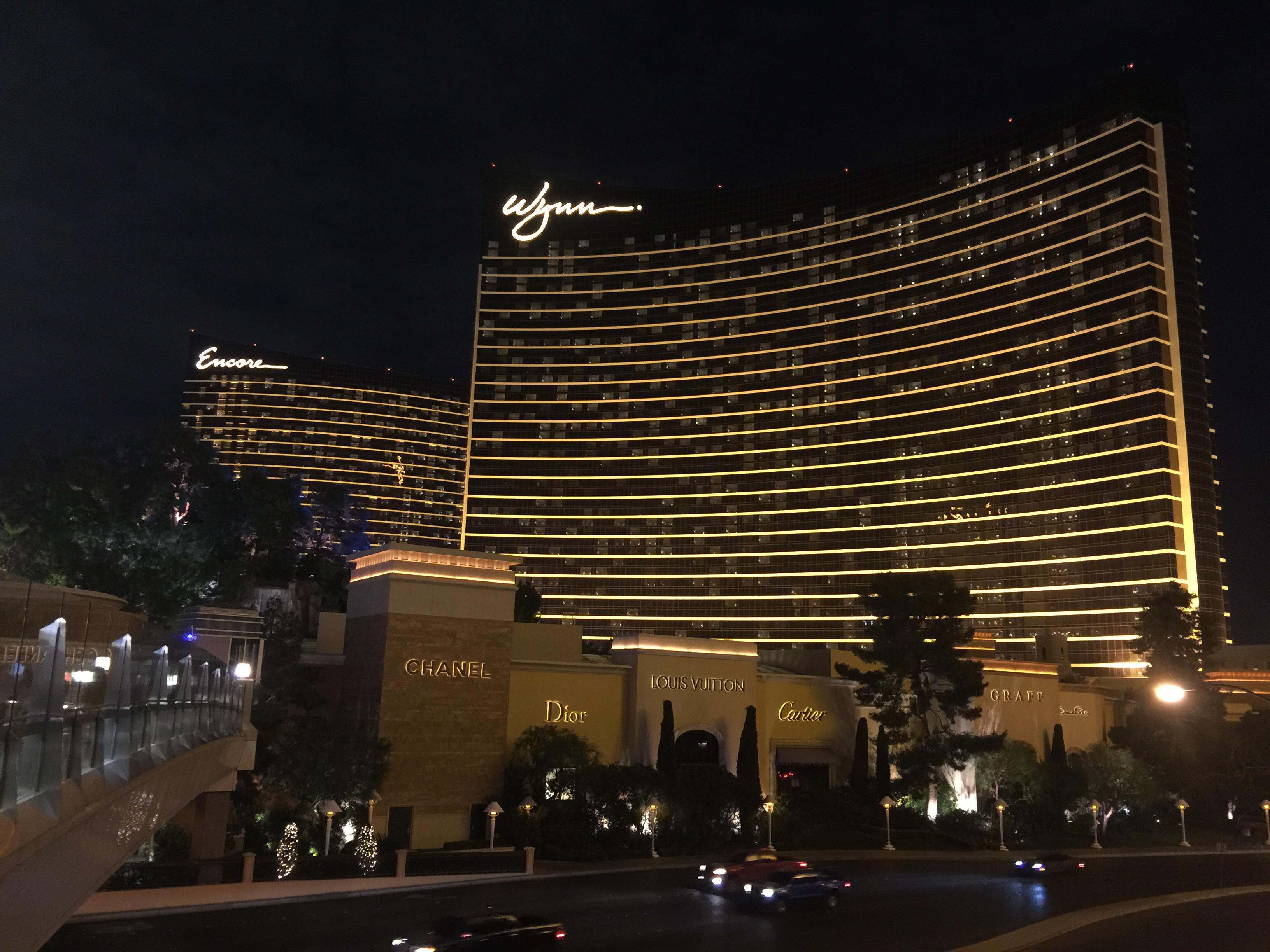 Wynn and Encore at night. Las Vegas 2015