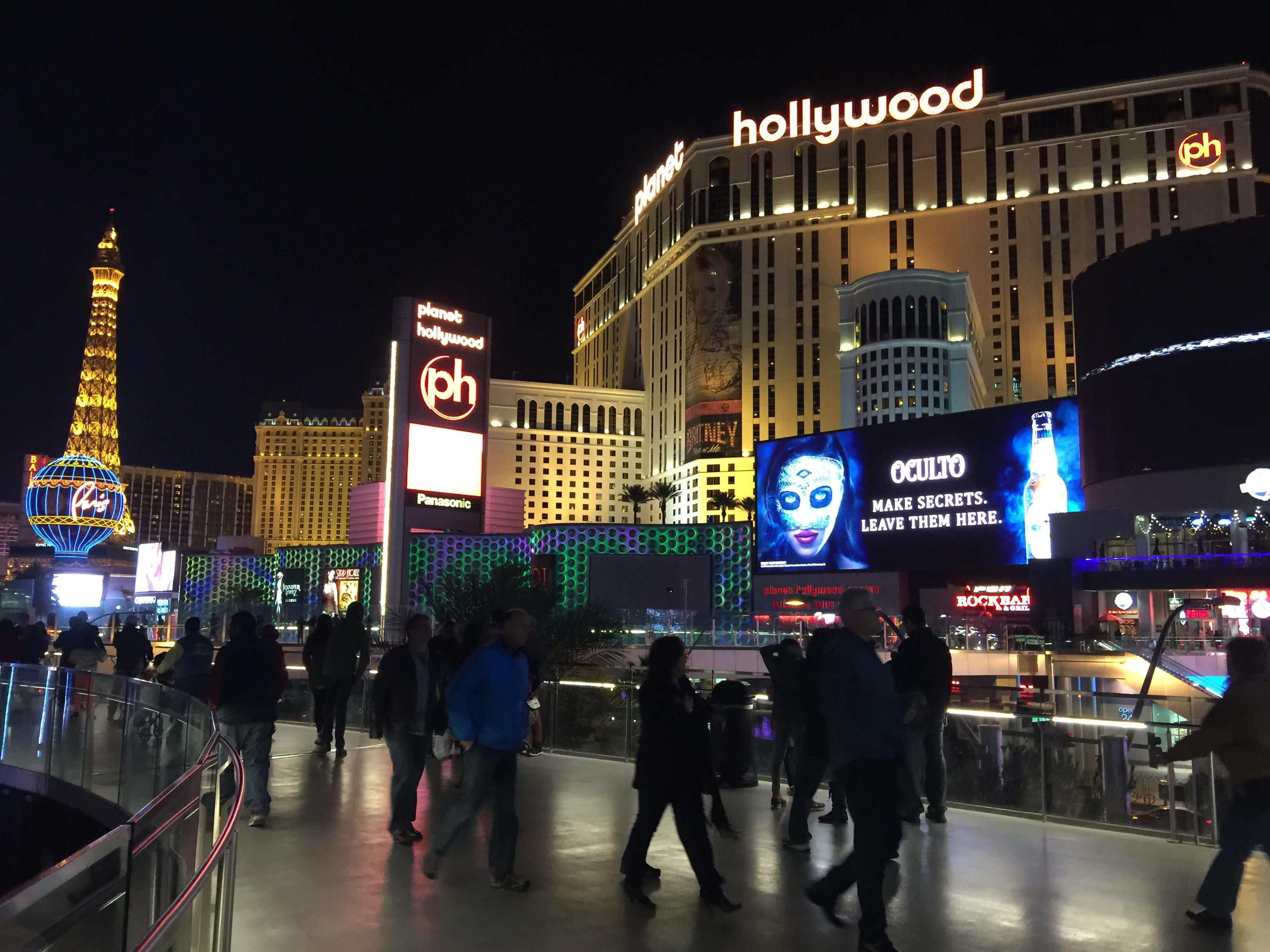 Las Vegas is doing well 2015 Planet Hollywood Paris. High traffic at Mandalay Bay and MGM