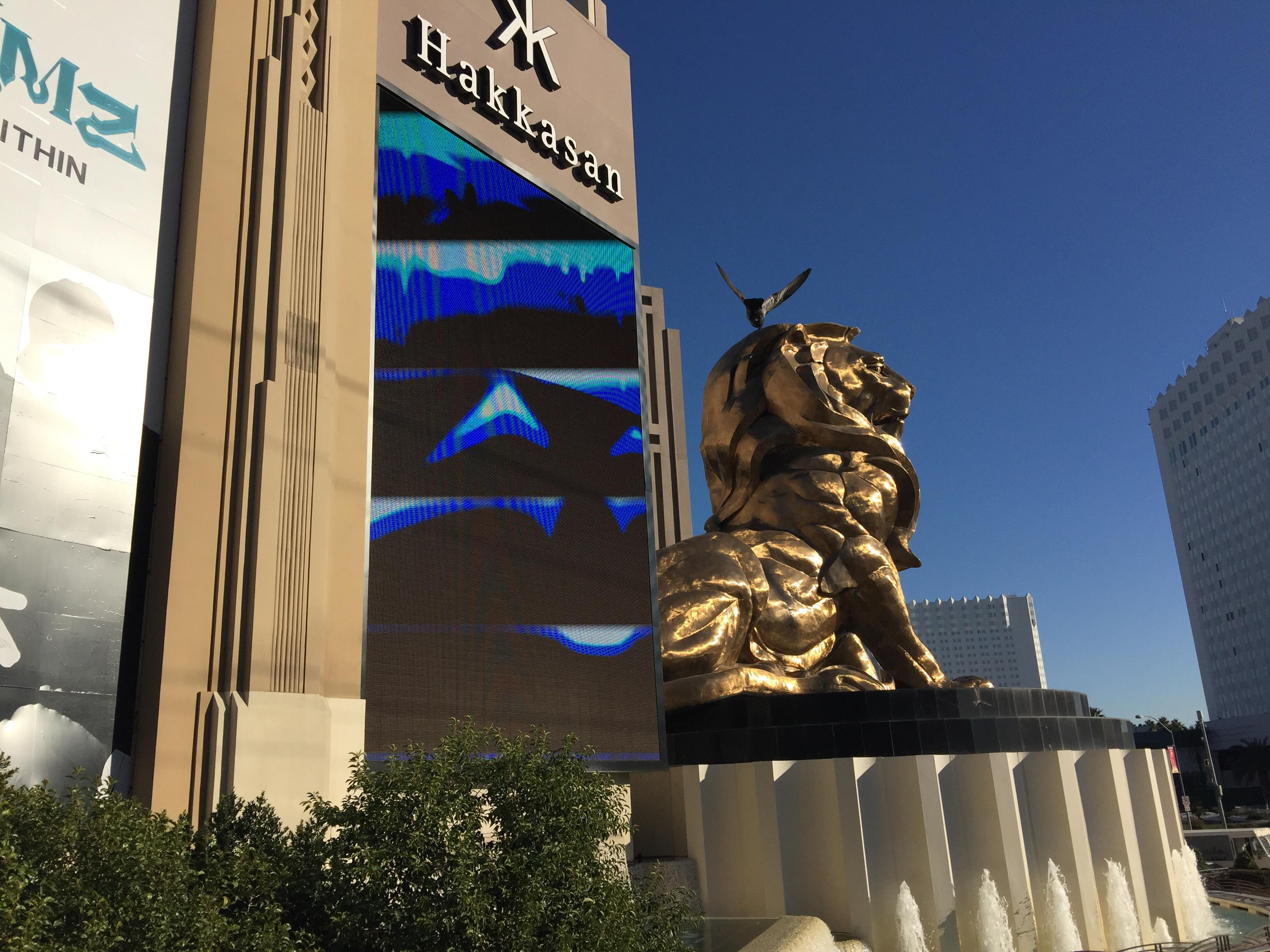 MGM Grand lion statue
