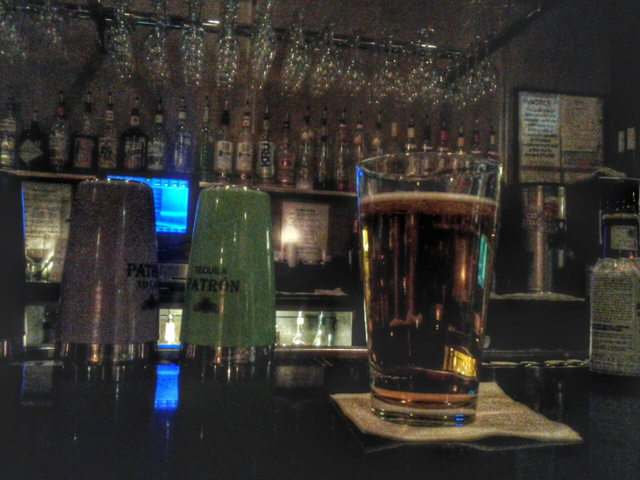 Modelo  beer $2.50 @  Geo  Geske.  Light,  not  bitter,  smooth.  Would go well with the