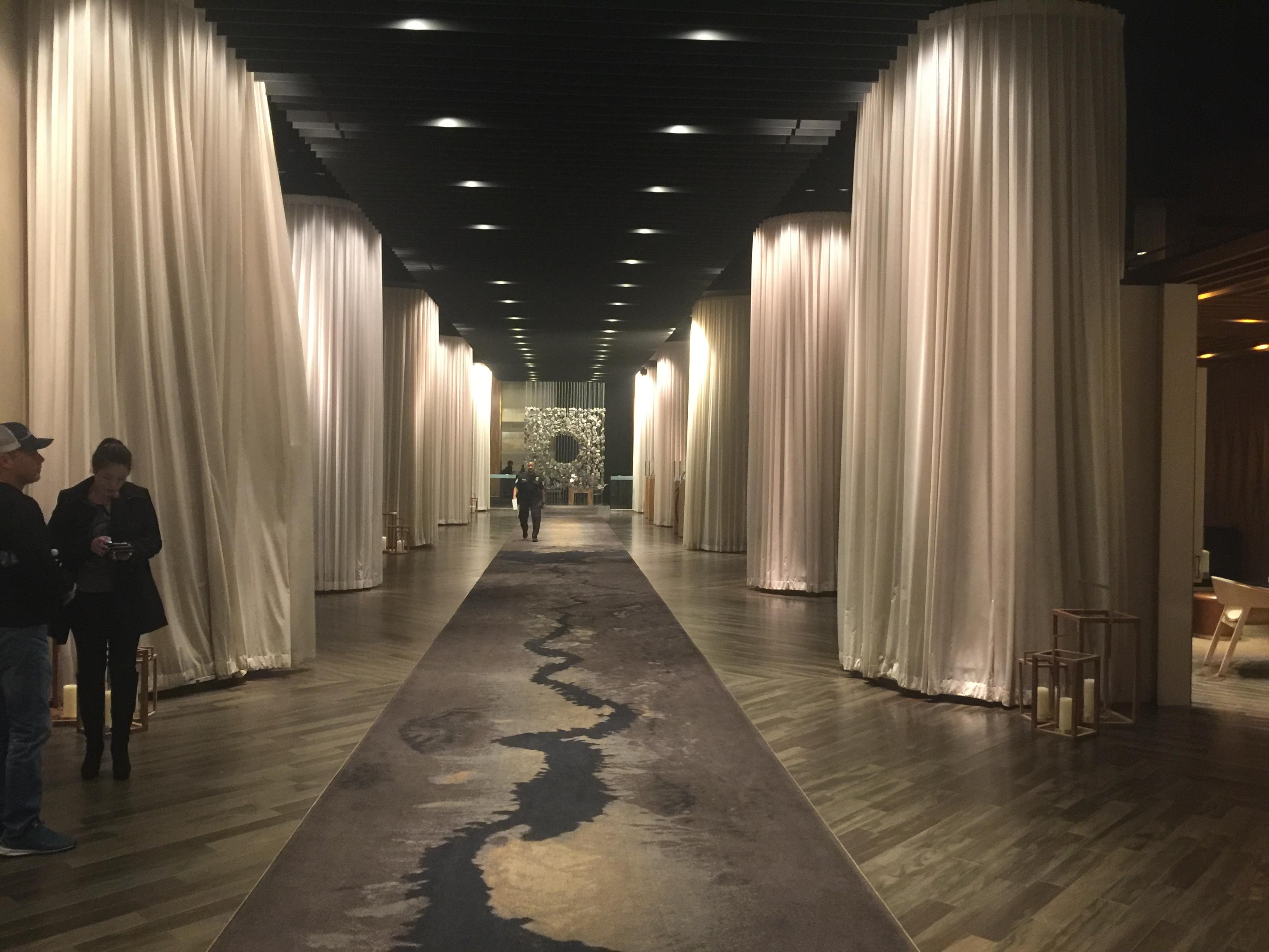 Delano Lobby with curtains