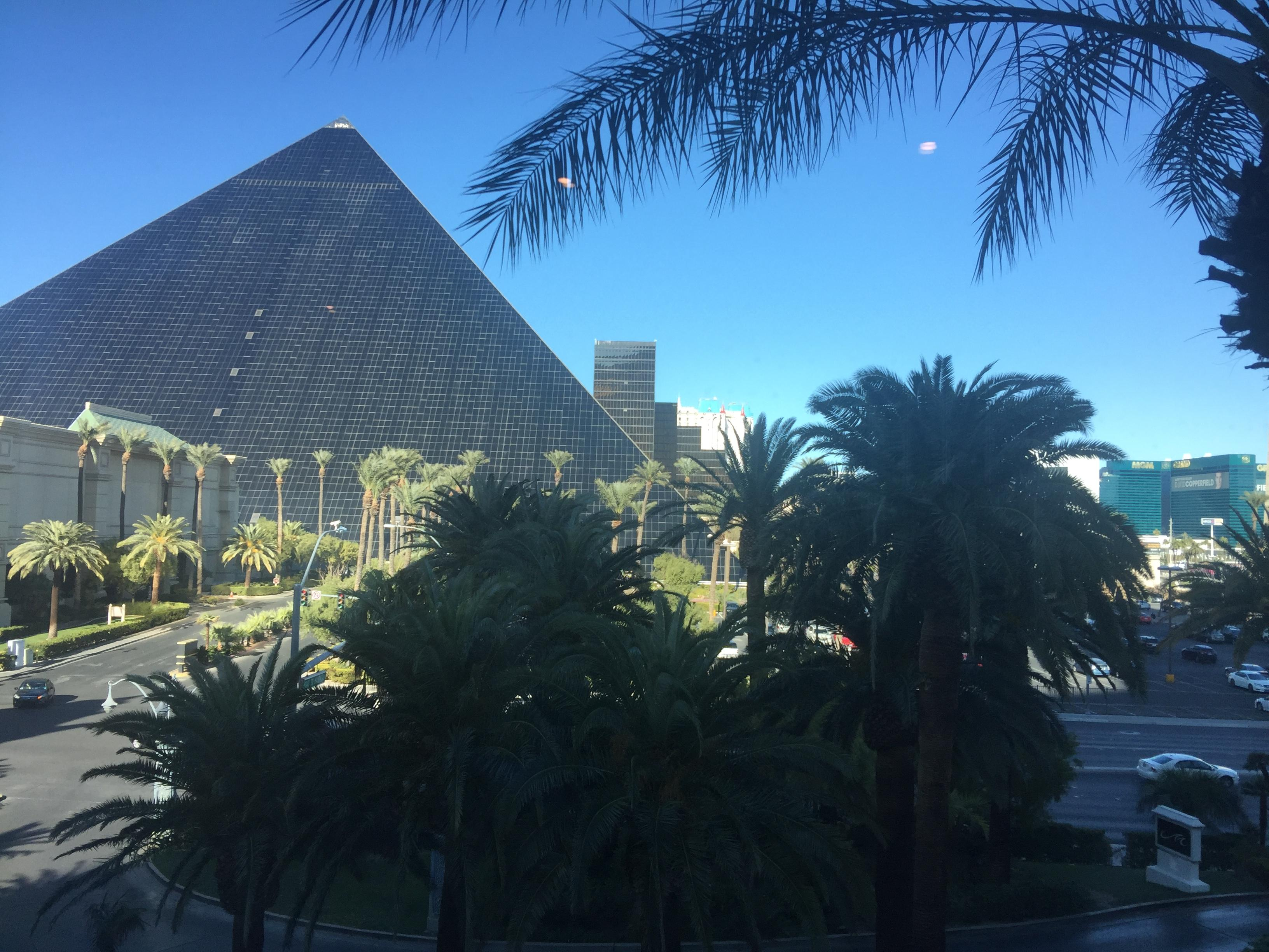 Luxor Pyramid from the Mandalay Bay Tram Station