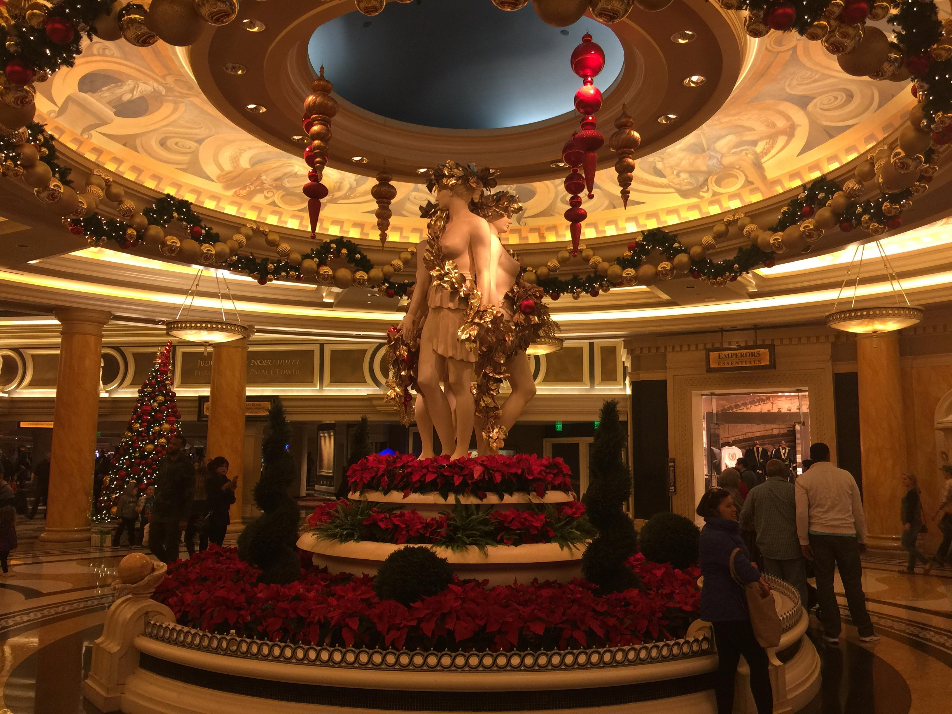 Statue of three at the lobby of Caesars Palace Las Vegas